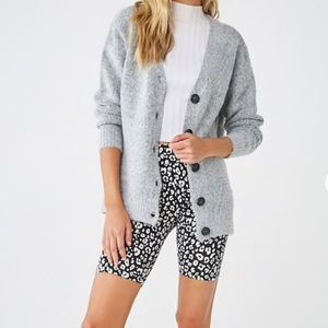 Forever 21 Grey Knitted Cardigan